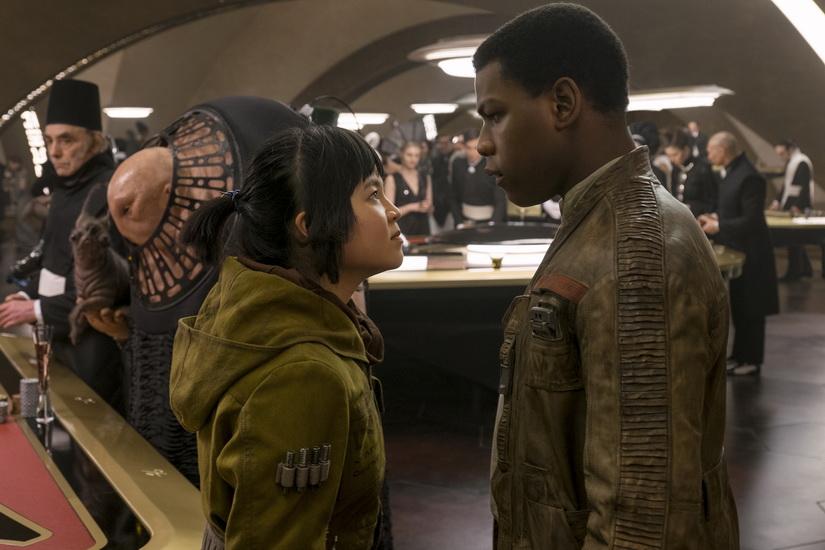 Star Wars: The Last Jedi..L to R: Rose (Kelly Marie Tran) and Finn (John Boyega)..Photo: David James..©2017 Lucasfilm Ltd. All Rights Reserved.
