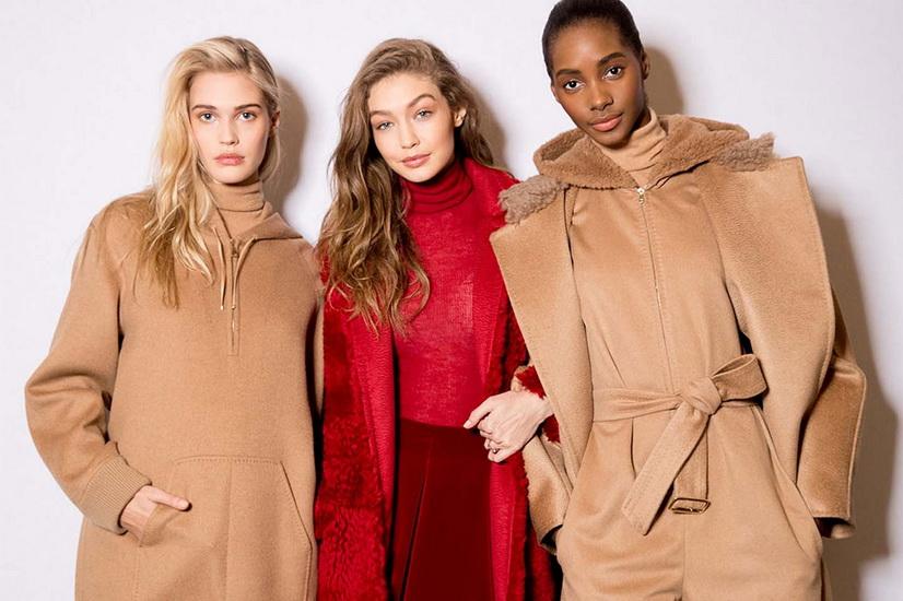 Dàn siêu mẫu trong thiết kế áo khoác Max Mara
