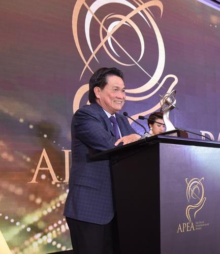 ông Đặng Văn Thành, Nhà sáng lập và Chủ tịch Tập đoàn TTC phát biểu sau khi nhận giải Doanh nhân của năm