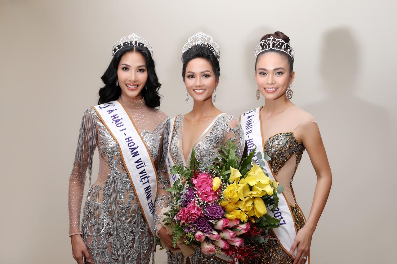 Top 3 Hoa hậu Hoàn vũ Việt Nam 2017.