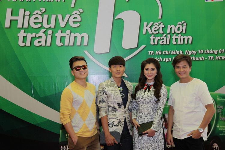 Từ trái qua: Khang Việt, Hòa Hiệp, Thanh Trúc, Bá Thắng