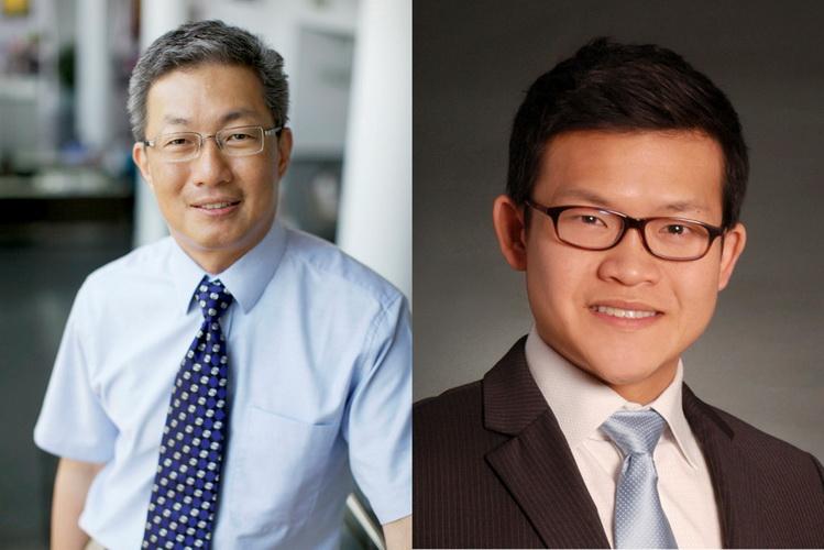 Thạc sĩ - Bác sĩ Doric Wong (trái) và Bác sĩ Gavin Tan