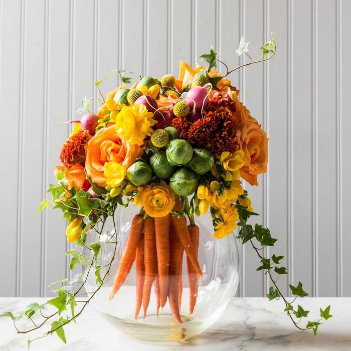 Bình hoa-rau củ độc đáo