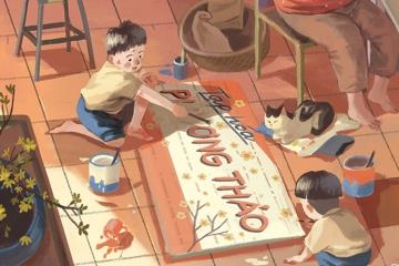Hãy để Tết là ký ức trẻ thơ đẹp đẽ nhất do chính con thêu dệt!