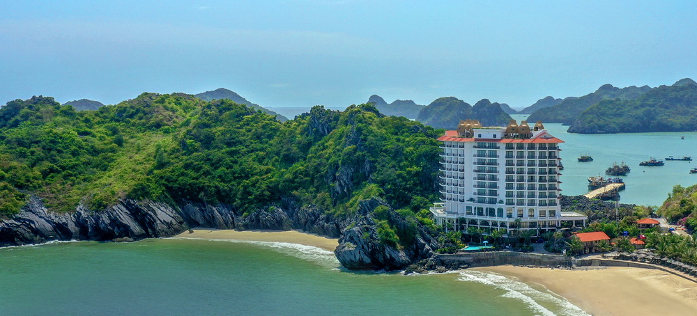 khách sạn Hôtel Perle d'Orient Cat Ba vịnh lan hạ