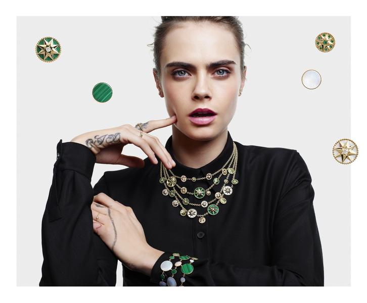 Rose des Vents trang suc Dior