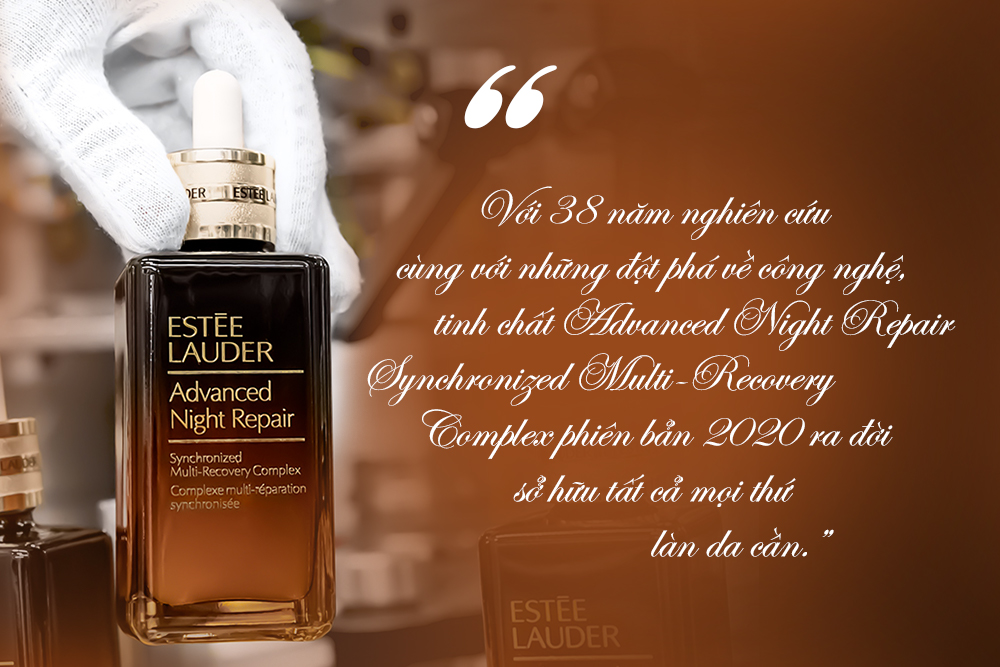 chai nhỏ màu nâu Estée Lauder Advanced Night Repair Synchronized Multi-Recovery Complex