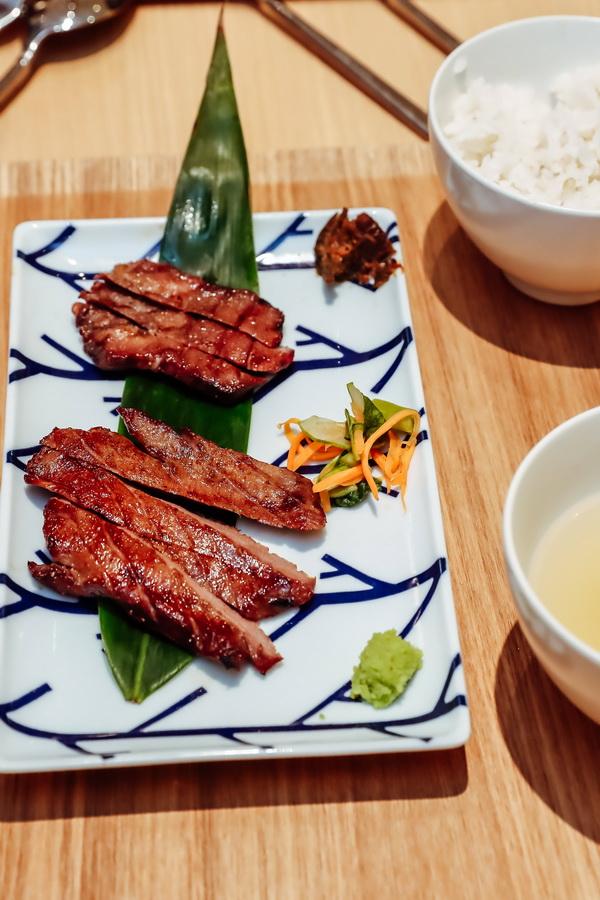 nhà hàng DATE Nariya món Gyutan lưỡi bò