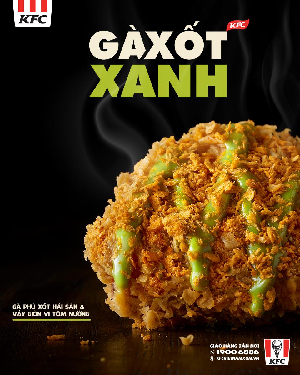 gà xốt xanh KFC