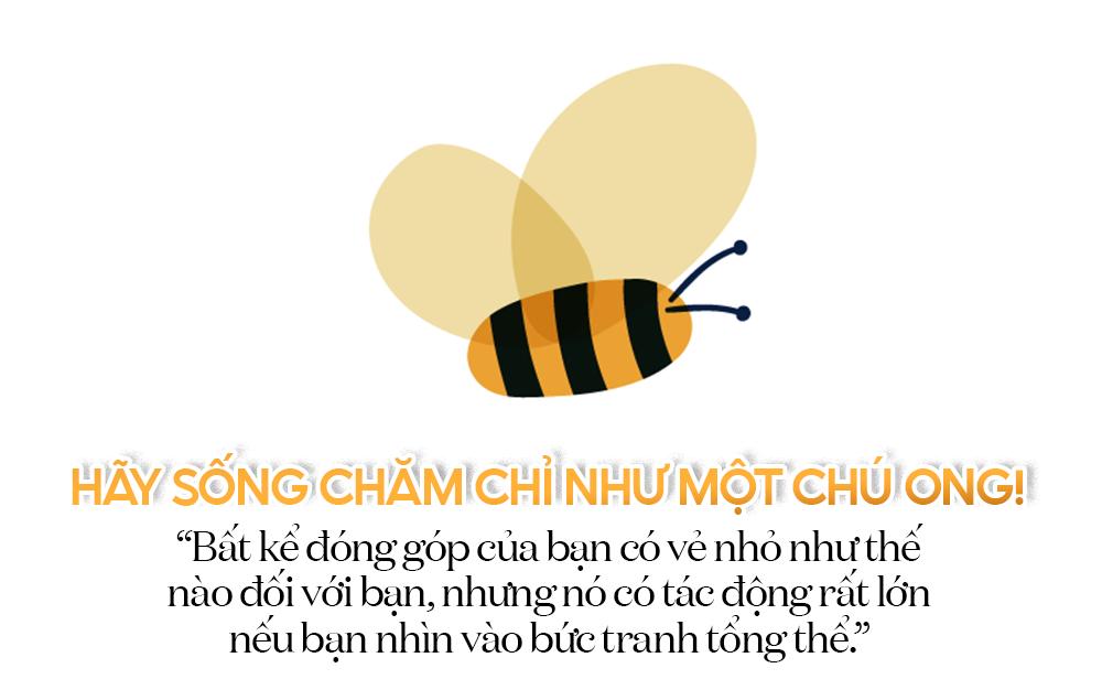 sống như con ong chăm chỉ