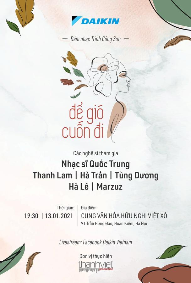 Daikin Concert đêm nhạc Trịnh Để gió cuốn đi
