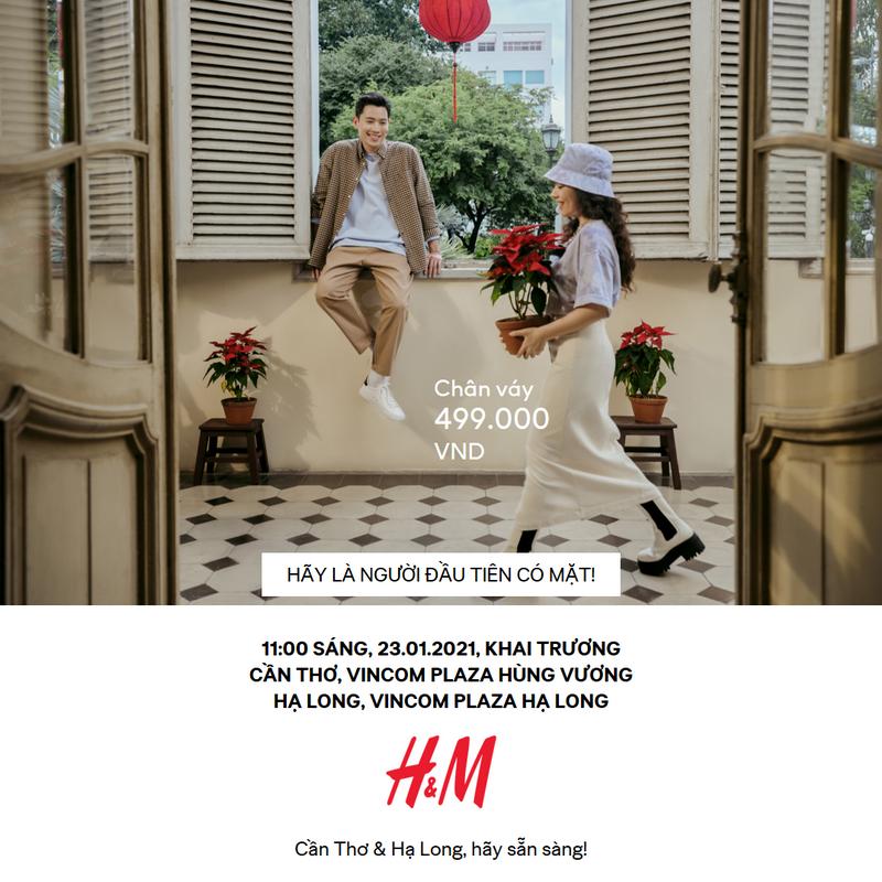 H&M ra mắt cửa hàng Hạ Long và Cần Thơ