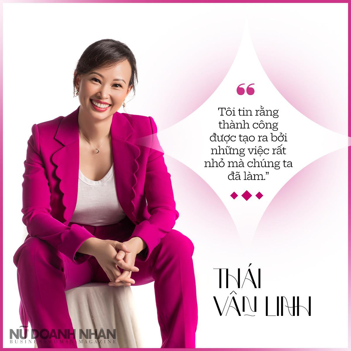 phỏng vấn thái vân linh trên tạp chí nữ doanh nhân