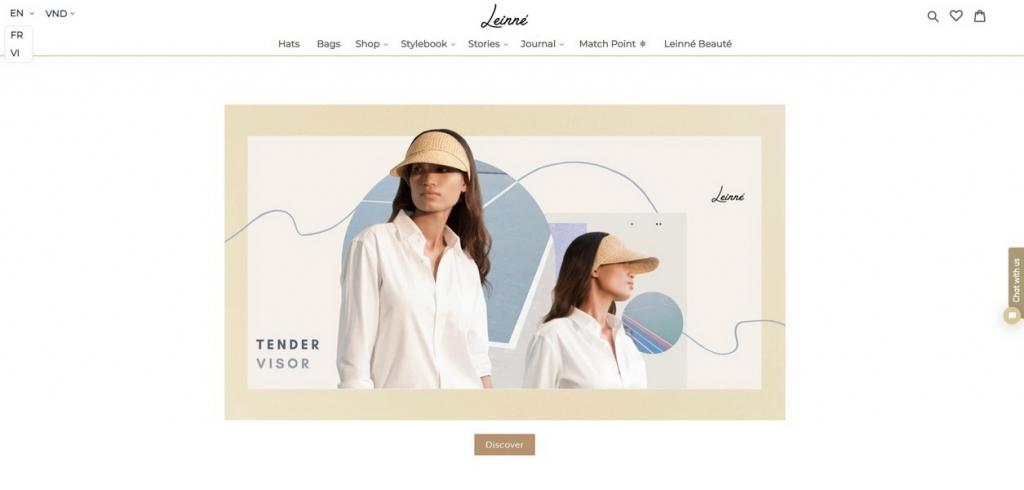 Leinné ra mắt website Leinne.com