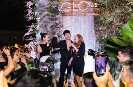 thanh hà mỹ lệ tham gia tiệc glo365 ultra glam party