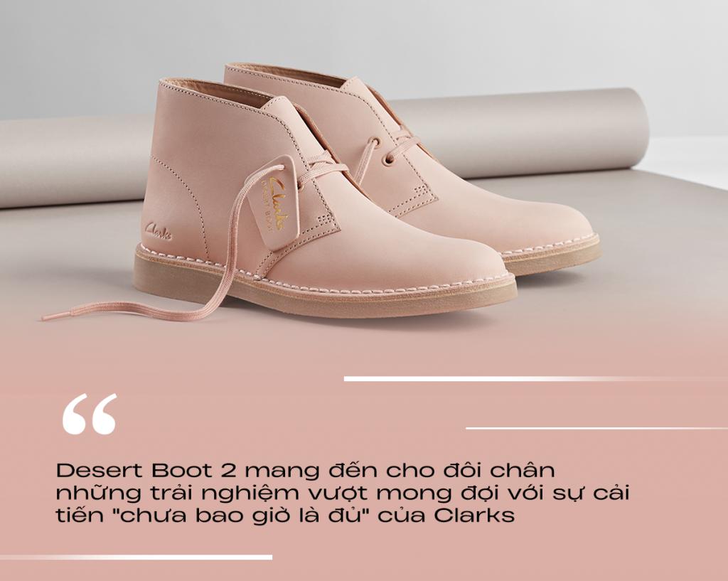 BST Clarks Xuân Hè 2021 cải tiến giày Desert Boot 2 và Craft Run Lace