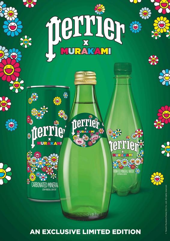 Perrier hợp tác nghệ sỹ đương đại Takashi Murakami ra mắt phiên bản giới hạn Perrier x Murakami