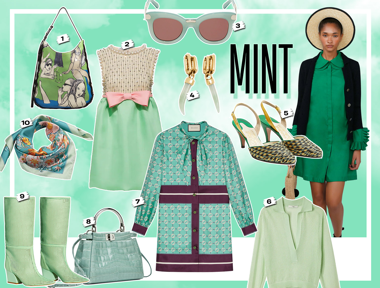 mix & match phối trang phục với đồ màu xanh mint