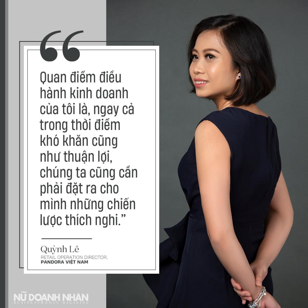 phỏng vấn nữ doanh nhân Quỳnh Lê Giám Đốc Điều Hành Bán lẻ Pandora Vietnam
