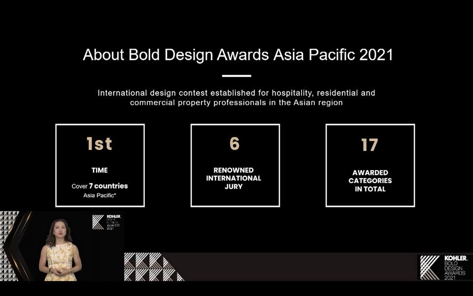 giải thưởng thiết kế KOHLER Bold Design Awards 2021 khu vực châu Á - Thái Bình Dương