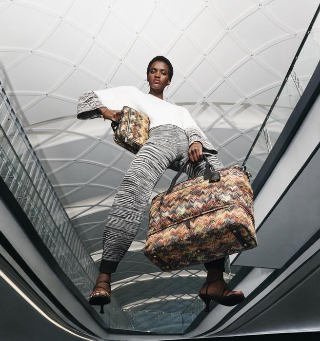 Tumi kết hợp Missoni bộ sưu tập bst vali túi xách du lịch mới